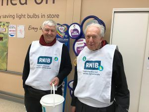 Collecting for The Royal National Institute for the Blind
